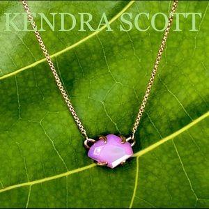 KENDRA SCOTT NWOT Ethan pendant necklace ROSE GOLD